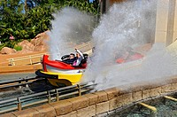 Sea World Adventure Theme Park Orlando Florida Journey to Atlantis rollder coaster boat ride