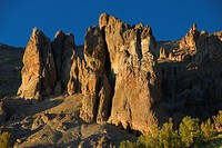 Sonora Peak outcrop from Pacific Crest Trail, Stanislaus National Forest, California