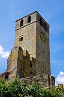 The old tower of Castellaro Lagusello, Monzambano,Mantova,Italy