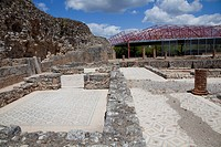 The city walls are largely intact, and the mosaic floors and foundations of many houses and public buildings remain. The House of the Swastika Cross w...