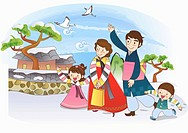 scene of Korean traditional holidays
