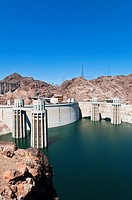Hoover Dam, Lake Mead Reservoir, Boulder City, Nevada, USA
