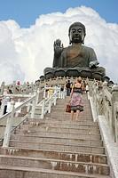 Tian Tan Buddha, Lantau Island, Hong Kong, China.