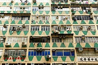 Apartment building, Mongkok, Hong Kong, China