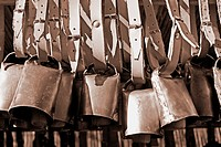 Cowbells on market stall on Gran Canaria