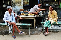 Men sitting at the tea shop
