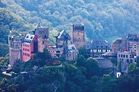 Europe, Germany, Rhineland_Palatinate, View of castle