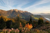 Germany, Bavaria, Upper Bavaria, Kneifelspitze Mountain, Berchtesgaden, Untersberg mountain