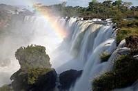 Iguazu Falls with rainbow, Iguazu National Park, Argentina