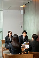 Businesspeople having a meeting, Tokyo Prefecture, Honshu, Japan