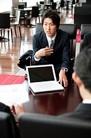 Businessmen in a meeting, Tokyo Prefecture, Honshu, Japan