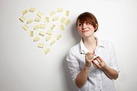 Women with Post_It Heart