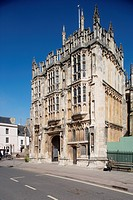 England, Gloucestershire, Cirencester, Church of St John the Baptist on high street