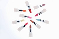 various colors of lipsticks