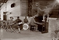 World War I, U.S. Army jazz band, circa 1914_1918