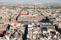 Panoramic view of Mexico City from Latinoamericana Tower