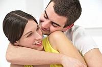 Portrait of young couple happy couple