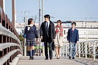 Parents and Teenage Children Walking