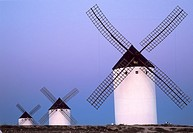 Wind mills in Campo de Criptana, Ciudad Real, Spain