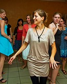 Paris, France, People Learning, to Dance Salsa, in Class, with female instructor