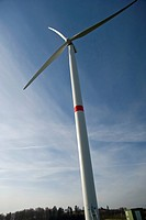 Wind turbine at Großeichholzheim in Baden, Germany