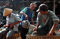 Local sellers at the traditional Javanese market of Pundong on the outskirts of Yogyakarta