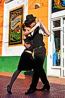 Argentina, Buenos Aires, Caminito, La Boca,Tango dancers