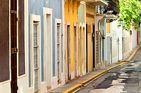 colorful row houses in san juan puerto rico