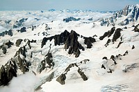 Schneebedeckte Berggipfel Neuseeland