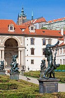 Prague, Czech republic _ baroque wallenstein garden at mala strana