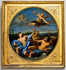 Paris, France, Louvre Museum, French Paintings, on Display in Art Gallery, 'L'amour D&#233;robe la Foudre &#224; Jupiter', Le Sueur