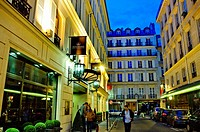 Paris, France, Interior- Contemporary Luxury Hotel , Exterior, Renaissance Paris Vendome, 5 Stars, Front Entrance on Street at Night  Credit Architect...