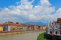 Pisa, Santa Maria della Spina church, Arno River, UNESCO world heritage site, Tuscany, Italy