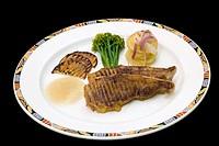 Steak and Vegetables Main Plate - Heminways Resort - Watamu, Kenya