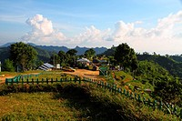 View of the Nilgiri Hill which is located 47 kilometers Southeast of Bandarban town on Chimbuk range, at a height of 2400 feet above sea level Bandarb...