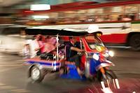 Asia, Thailand, Bangkok, Tuk Tuk taxi