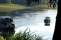 BOATING IN PERIYAR TIGER RESERVE, THEKKADY, KERALA, INDIA