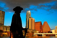 Stevie Ray Vaugn statue, Austin Texas