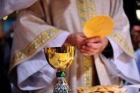 Eucharist celebration, Paris, France, Europe