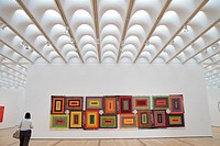 Georgia, Atlanta, High Museum of Art, painting, artwork, ´The Great Pyramid´, Alfred Jensen, contemporary, color, optics, canvas, woman, ceiling, skyl...