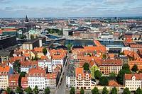 Panoramic city view, Copenhagen, Denmark, Scandinavia, Europe