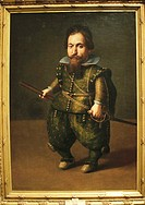 Retrato de un enano Spanish for 'Portrait of a dwarf', oil on canvas by Juan van der Hamen y Leon, 1623   The Museo del Prado is a museum and art gall...