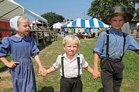 Pennsylvania, Kutztown, Kutztown Folk Festival, Pennsylvania Dutch folklife, Amish, heritage, religion, tradition, custom, girl, boy, brother, sister,...
