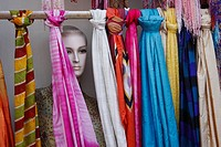TEXTILE SHOP AT A FAIR IN DUBAI,UAE