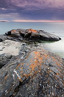 Rocks on North Beach on the shores of Lake Superior in Pukaskwa National Park, Ontario, Canada