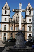 The San Francesco cathedral in the center of Salvador de Bahia, Brazil, South America