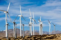 Wind farms near Palm Springs, California, USA