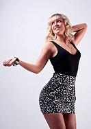blonde hübsche Frau