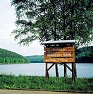 Germany, Herscheid, D-Luedenscheid, nature reserve Ebbegebirge, Sauerland, Westphalia, North Rhine-Westphalia, Verse dam, Verse reservoir, information...