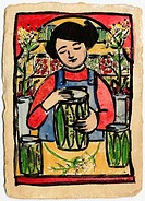 Woman Canning Vegetables